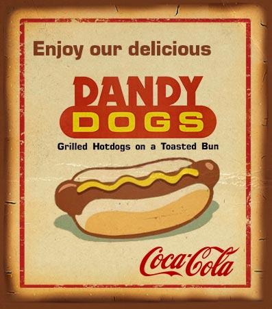 Dandydogs Hotdogs and a Coke